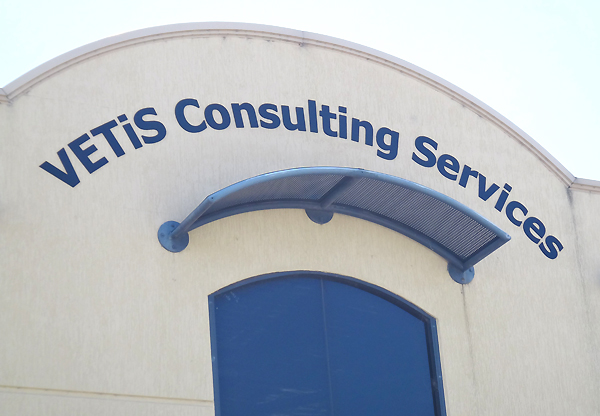Vetis Consulting flat cut acrylic sign