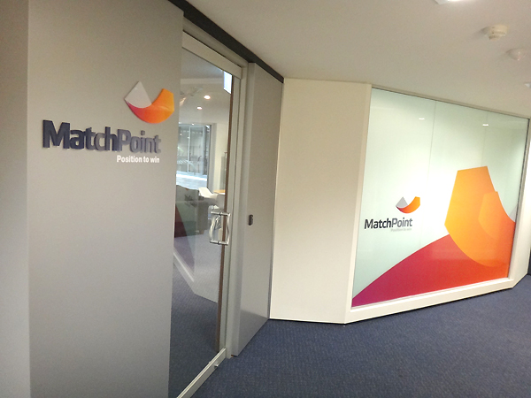 Match Point office signs