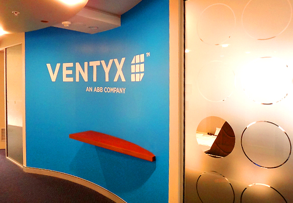 Ventyx digital wall graphic