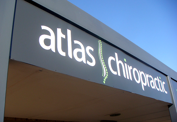 Atlas Chiropractic cut vinyl sign