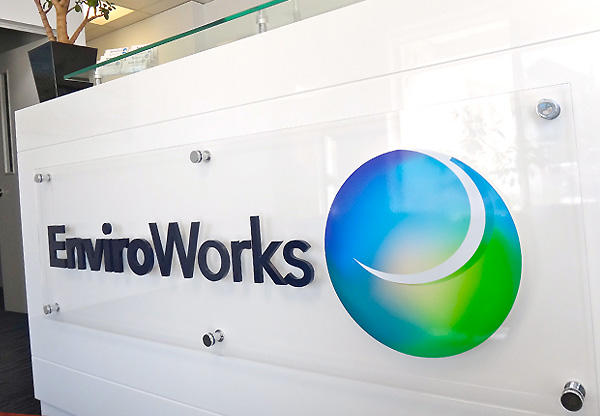 Enviroworks reception sign