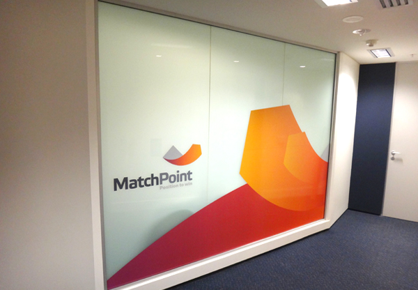 Match Point printed window graphics