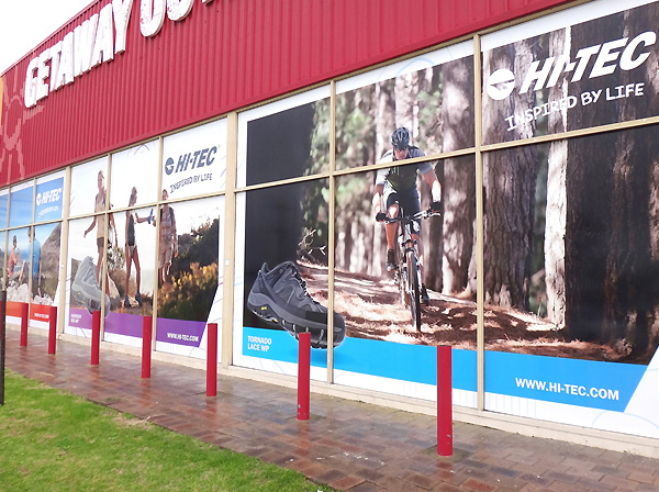 Leatherman printed large format window graphics