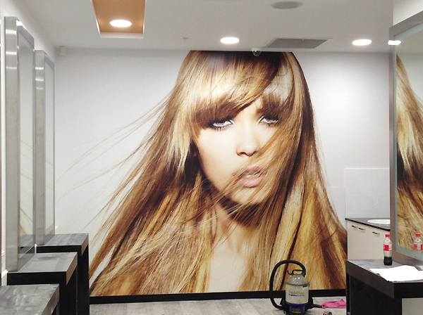 Salon Express digital wall vinyl