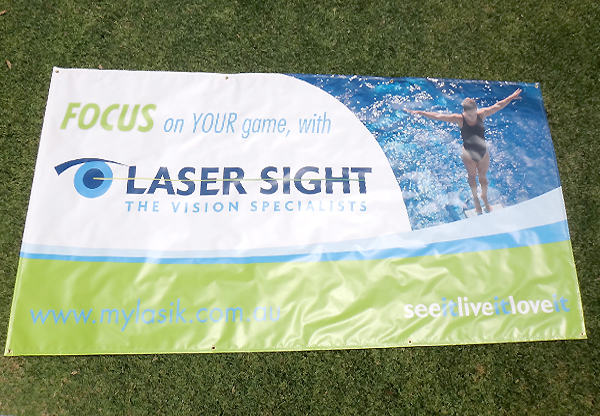 Laser Sight PVC printed banner