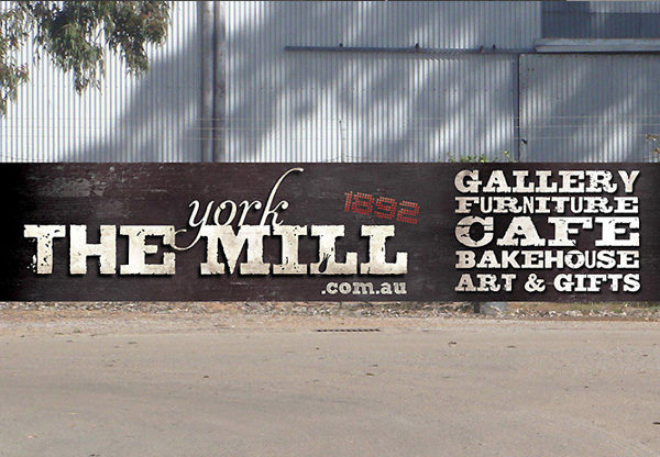 The York Mill PVC printed banner